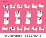 cat cartoon set   Shutterstock .eps vector #553270048