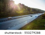 highway and natural landscape.... | Shutterstock . vector #553279288