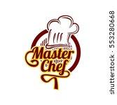 master chef logo design vector... | Shutterstock .eps vector #553280668