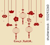 chinese new year background... | Shutterstock .eps vector #553292260