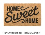 home sweet home welcome mat... | Shutterstock . vector #553302454