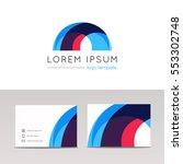 abstract circular arc logo icon ...