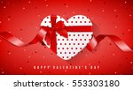 happy valentine's day red web... | Shutterstock .eps vector #553303180