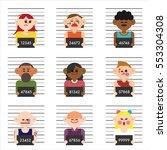 criminal arrest photo vector... | Shutterstock .eps vector #553304308