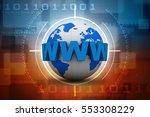 3d rendering word www is... | Shutterstock . vector #553308229