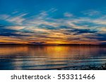 Beautiful Sunset Over A Lake In ...
