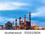 gas turbine electric power... | Shutterstock . vector #553315834