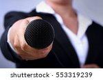 Journalist Making Speech With...
