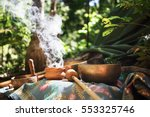 Stock photo mexican or indian sauna hut stock image 553325746