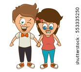 cute couple character sixty... | Shutterstock .eps vector #553335250