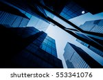 skyscrapers from a low angle... | Shutterstock . vector #553341076