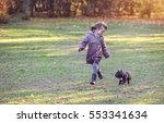 french bulldog with a little... | Shutterstock . vector #553341634