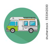 trailer travel car isolated icon | Shutterstock .eps vector #553342030