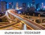 urban traffic with cityscape in ... | Shutterstock . vector #553343689