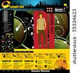 website template   Shutterstock .eps vector #55334623