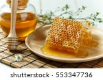 Honeycombs With Jar And Dipper...