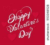 happy valentines day  dark red | Shutterstock .eps vector #553348528
