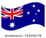 flag of australia. australian... | Shutterstock .eps vector #553350178