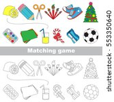 school tolls set to find the... | Shutterstock .eps vector #553350640
