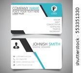 blue modern creative business... | Shutterstock .eps vector #553351330