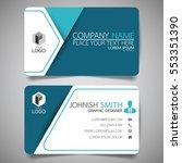 blue modern creative business... | Shutterstock .eps vector #553351390
