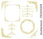 set of vintage elements. frames ... | Shutterstock . vector #553354249