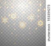 falling christmas shining... | Shutterstock . vector #553354273