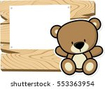 illustration of cute baby teddy ... | Shutterstock .eps vector #553363954