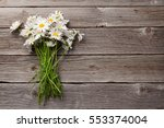 daisy chamomile flowers on... | Shutterstock . vector #553374004