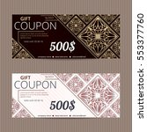 gift voucher in luxury style.... | Shutterstock .eps vector #553377760