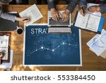 business strategy corporation... | Shutterstock . vector #553384450