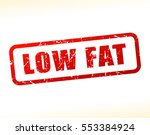 illustration of low fat text... | Shutterstock .eps vector #553384924