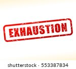 illustration of exhaustion text ... | Shutterstock .eps vector #553387834