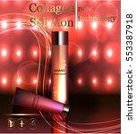 face skincare premium ad design ... | Shutterstock .eps vector #553387918