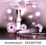 face skincare premium ad design ... | Shutterstock .eps vector #553387930