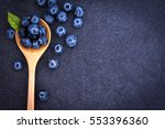 Fresh Picked Blueberries In...