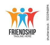friendship logo | Shutterstock .eps vector #553396894