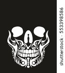Tribal Tattoo Skull Graphic...