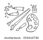 painting tools doodle | Shutterstock .eps vector #553410730