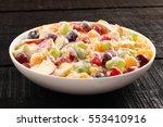 Fresh Fruits Salad With  Cream...