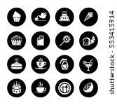 cafe  sweet  baked  desserts... | Shutterstock .eps vector #553415914