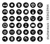 travel and vacation icons set | Shutterstock .eps vector #553415944
