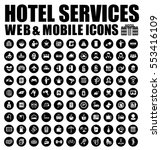 hotel icons | Shutterstock .eps vector #553416109