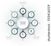 vector infographics  3d paper... | Shutterstock .eps vector #553416319