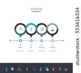 vector infographics timeline... | Shutterstock .eps vector #553416334