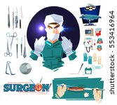 surgeon doctor character design ... | Shutterstock .eps vector #553416964