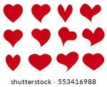 vector background with hearts  ... | Shutterstock .eps vector #553416988