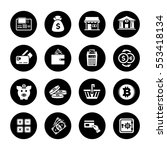 banking icons set | Shutterstock .eps vector #553418134