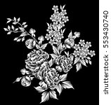 floral highly detailed hand... | Shutterstock .eps vector #553430740