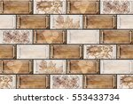 colorful vintage ceramic tiles... | Shutterstock . vector #553433734